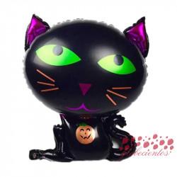 Globo gato Halloween, 62x48 cm