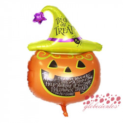 "Globo calabaza ""Trick or Treat"", 87x56 cm"