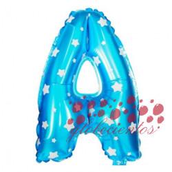 Globo letra A azul, 38 cm