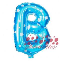 Globo letra B azul, 38 cm
