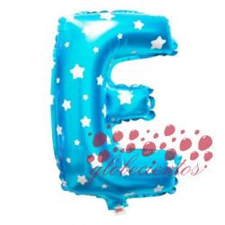 Globo letra E azul, 38 cm