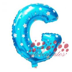 Globo letra G azul, 38 cm