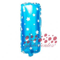 Globo letra I azul, 38 cm