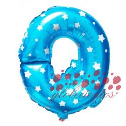 Globo letra Q azul, 38 cm