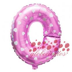 Globo letra O rosa, 38 cm