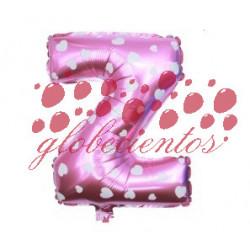 Globo letra Z rosa, 38 cm