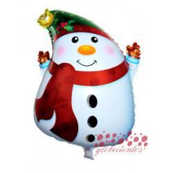 Globo muñeco de nieve, 63x45 cm