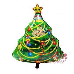 "Globo árbol navidad ""Merry Christmas"", 63x45 cm"