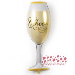 """Globo copa celebración pequeña """"Cheers"""", 43x25 cm"""