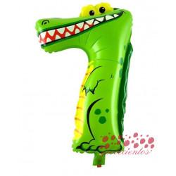Globo número 7 forma animal, 28x46 cm