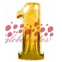 Globo número 1 dorado, 97 cm