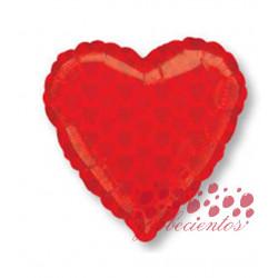 Globo forma corazón baraja de poker, 45 cm