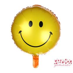 Globo cara sonriente, 45 cm