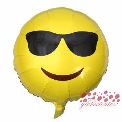 Globo emoticono gafas, 45 cm