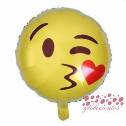 Globo emoticono beso, 45 cm