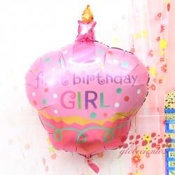 Globo pastel 1er cumpleaños niña, 91x70 cm