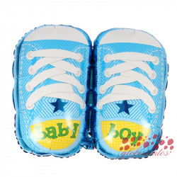 "Globo zapatillas azules ""baby boy"", 75x55 cm"