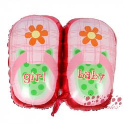 """Globo zapatillas rosas """"baby girl"""", 75x55 cm"""