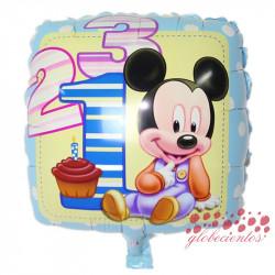 "Globo Mickey bebé ""1 2 3"", 45 cm"