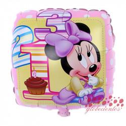 """Globo Minnie bebé """"1 2 3"""", 45 cm"""
