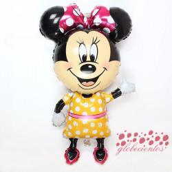 Globo figura Minnie amarillo, 114x63 cm