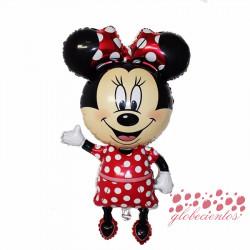 Globo figura Minnie rojo, 114x63 cm