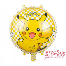 Globo redondo Pokémon Pikachu, 45 cm