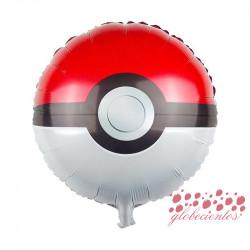 Globo redondo Pokémon Pokeball, 45 cm