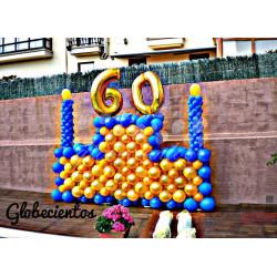 Photocall tarta de globos, 1.8 m