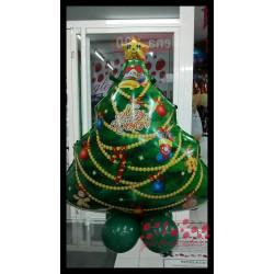 Globo árbol de navidad con base
