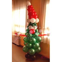 Árbol de navidad animado de globos grande
