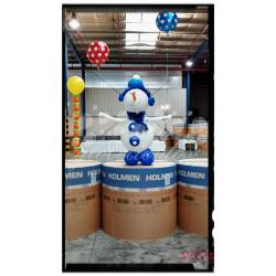 Muñeco de nieve de globos