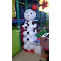 Muñeco de nieve de globos grande
