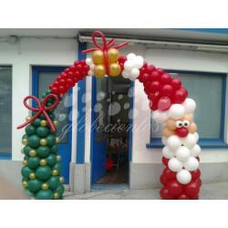 Arcada de globos navideña