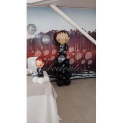 Globo grande figura novio con base de globos