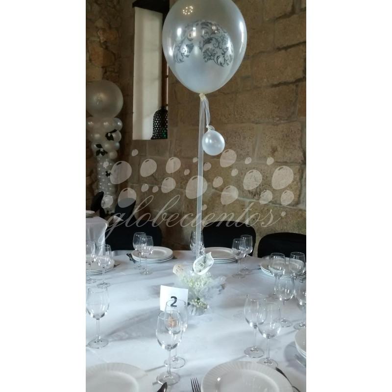 Centro de mesa con globo cristal con damas globecientos - Centros de mesa cristal ...