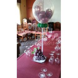 Centro mesa uvas con bandeja