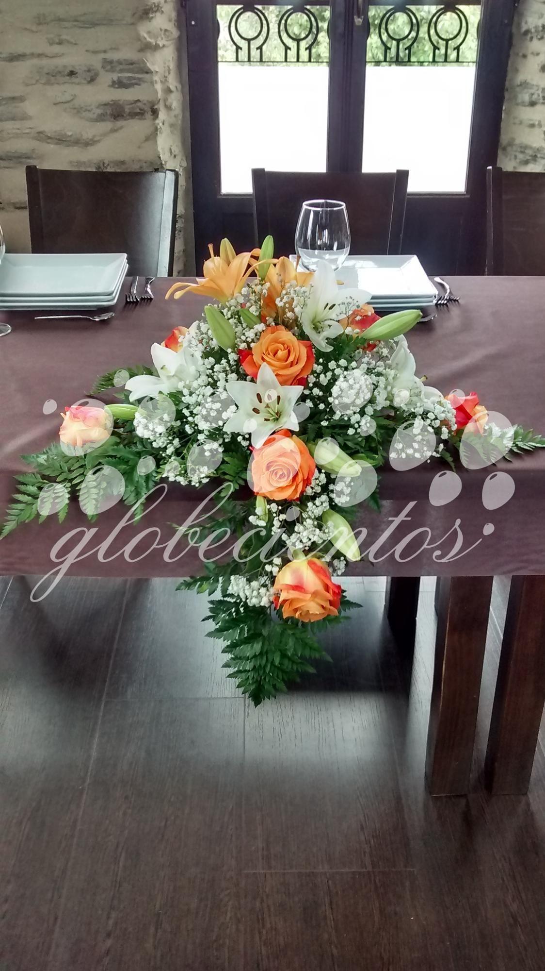 Arreglo Floral Para Mesa Modelo 3 Globecientos