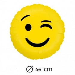 Globo emoticono guiño, 45 cm