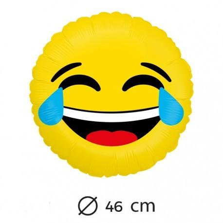 Globo Emoticono Risa Con Lágrimas 45 Cm Globecientos