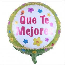 """Globo """"Que Te Mejores"""" diseño 3, 45 cm"""