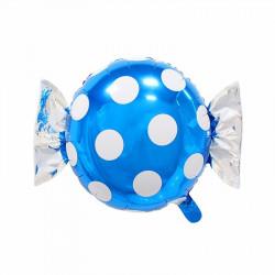 Globo forma caramelo con envoltorio puntos, 45 cm