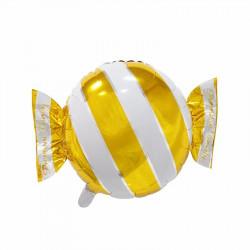 Globo forma caramelo con envoltorio rayas, 45 cm