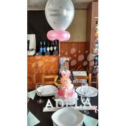 Figura de globos niño/a más nombre en 3D