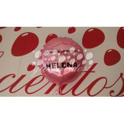 Globo helio serigrafiado