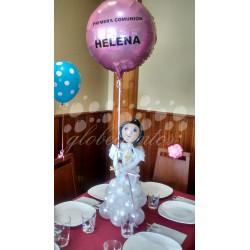 Figura de globos niño/a 50cm con globo foil serigrafiado