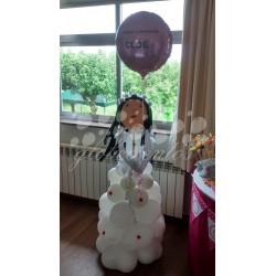 Figura de globos niño/a 110cm con globo foil serigrafiado